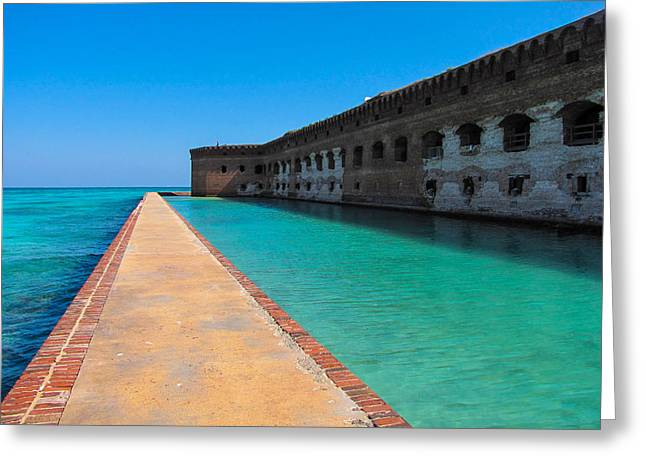 Dry Tortugas Greeting Cards - Walk into Blue Greeting Card by Beth Harcek