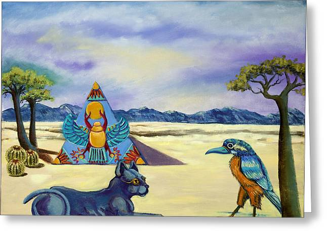 Print On Canvas Greeting Cards - Walk like an Egyptian Greeting Card by Susan Culver
