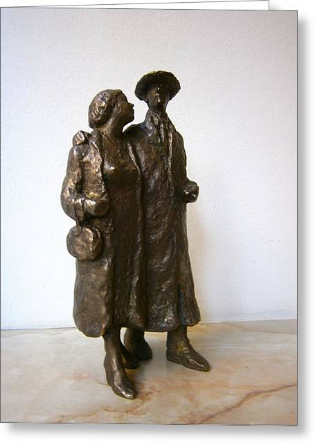 Realism Sculptures Greeting Cards - Walk Greeting Card by Nikola Litchkov