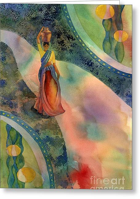 Carrier Greeting Cards - Walk of Dawning Greeting Card by Amy Kirkpatrick