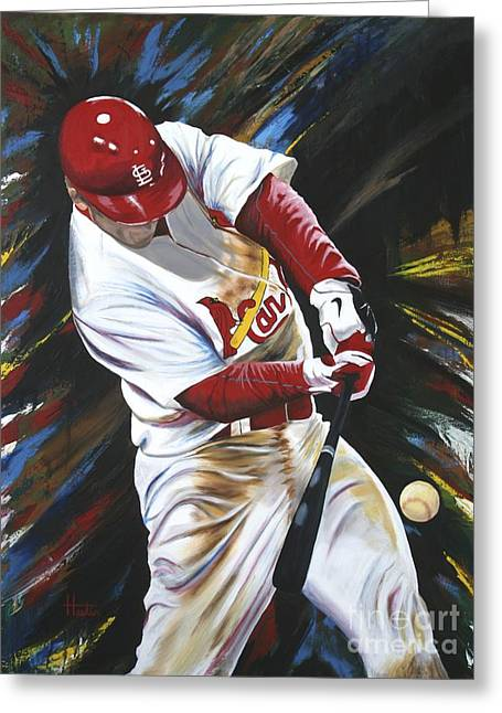 Walk Off Home Run Greeting Cards - Walk Off Greeting Card by Terry  Hester