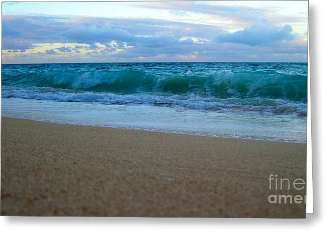 Snorkel Greeting Cards - Walk on the Beach Greeting Card by Cheryl Young