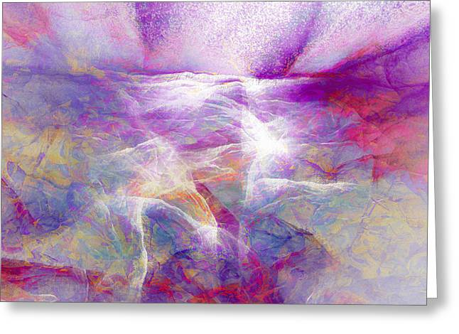 Print On Canvas Greeting Cards - Walk On Water - Abstract Art Greeting Card by Jaison Cianelli