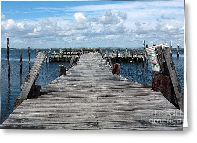 Docked Boats Greeting Cards - Walk Out Greeting Card by John Rizzuto