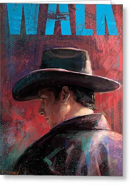 Sheriff Greeting Cards - Walk Greeting Card by Steve Goad