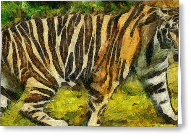 The Tiger Greeting Cards - Walk the tiger Greeting Card by Georgi Dimitrov
