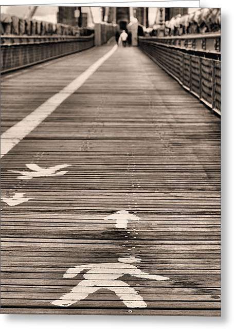 Brooklyn Promenade Greeting Cards - Walk This Way Greeting Card by JC Findley