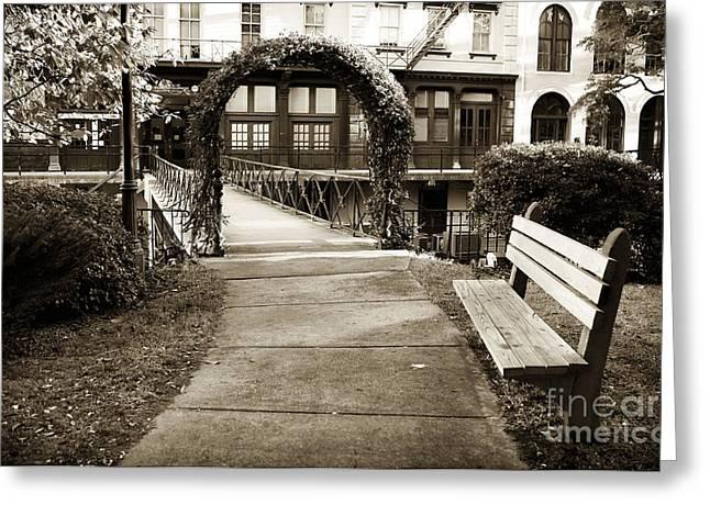 Chatham Greeting Cards - Walk Through Savannah Greeting Card by John Rizzuto