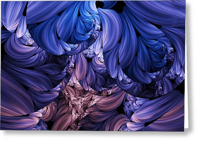 Youthful Digital Art Greeting Cards - Walk Through The Petals Abstract Greeting Card by Georgiana Romanovna