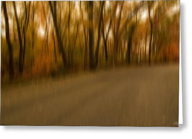 Autumn Art Greeting Cards - Walk To Change Greeting Card by Lourry Legarde