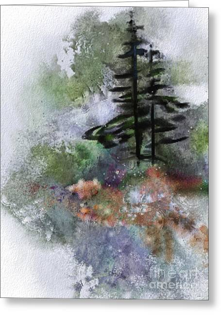 Joan A Hamilton Greeting Cards - Walk to the Point Greeting Card by Joan A Hamilton