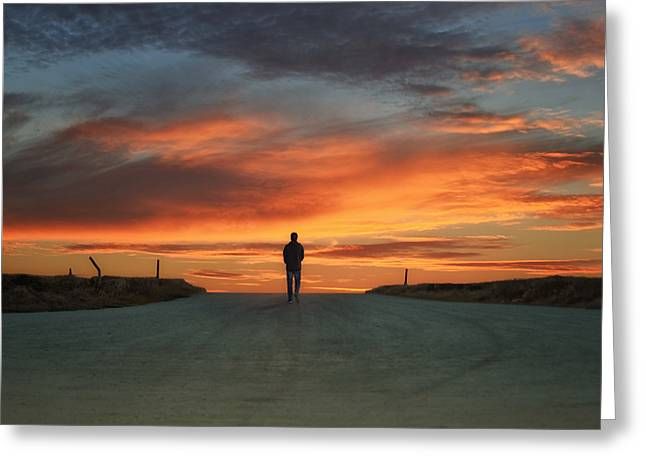 Photography As Art Greeting Cards - Walk Towards The Light Greeting Card by Steven  Michael