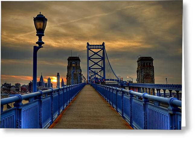 City Lights Greeting Cards - Walk with Me Greeting Card by Evelina Kremsdorf