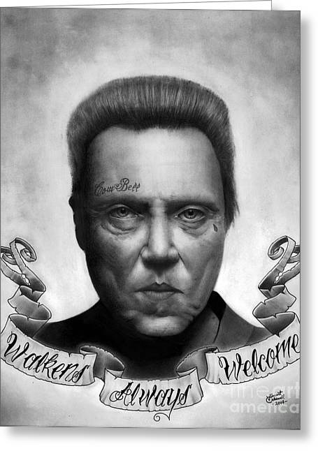 Graphite Poster Greeting Cards - Walkens Always Welcome Greeting Card by Vincent Caldwell