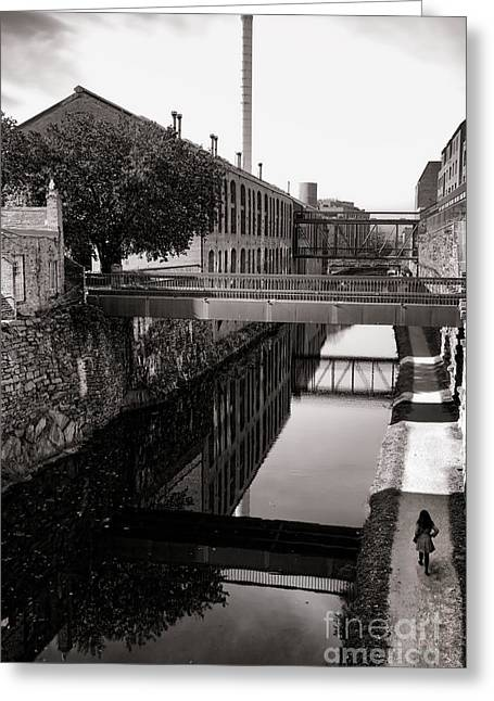 Waterways Greeting Cards - Walking along the C and O Greeting Card by Olivier Le Queinec