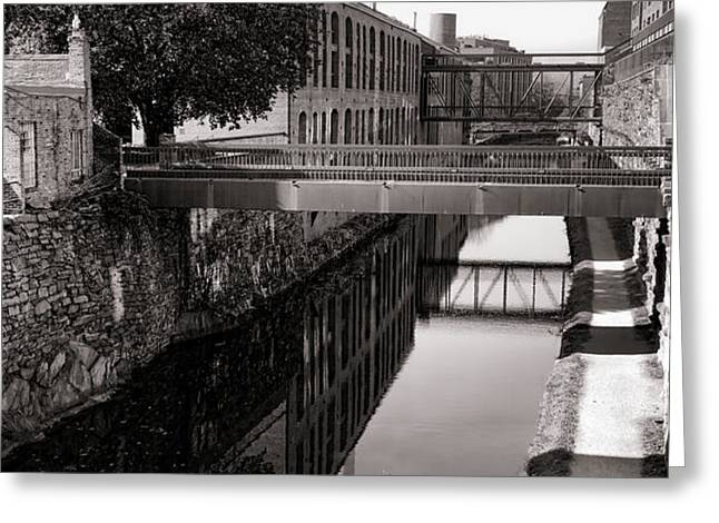 Walking along the C and O Greeting Card by Olivier Le Queinec