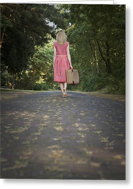 Lonelyness Greeting Cards - Walking away Greeting Card by Maria Heyens