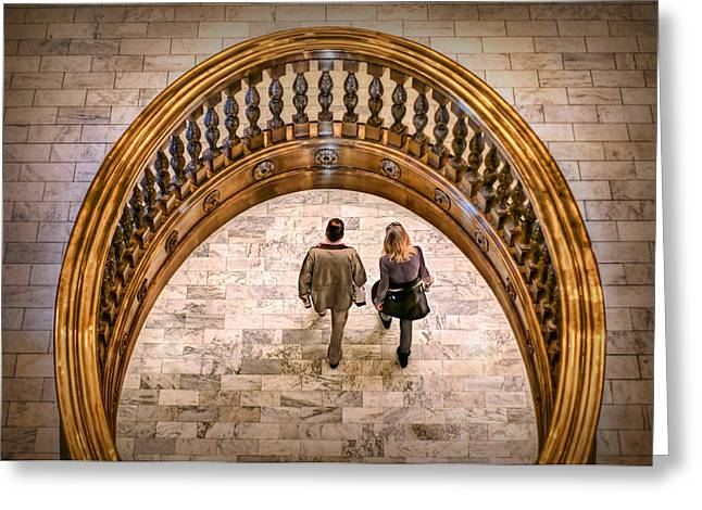 Women Together Greeting Cards - Walking Below Greeting Card by Nikolyn McDonald