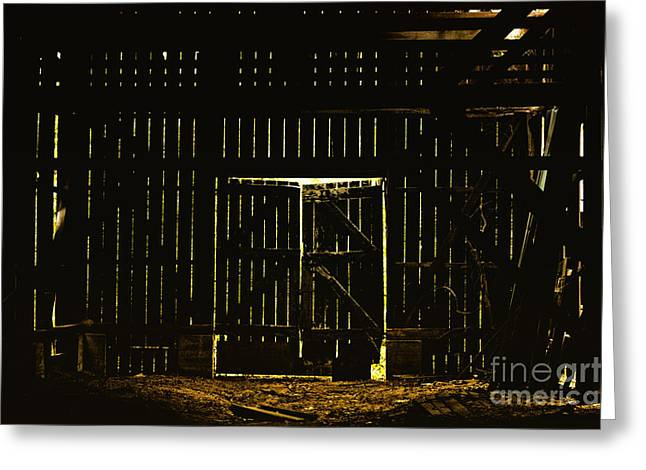 Barn Door Greeting Cards - Walking Dead Greeting Card by Andrew Paranavitana