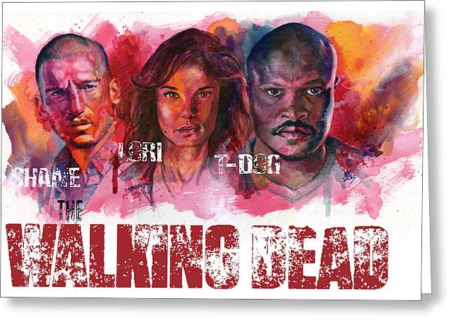 Walking Dead Dead Greeting Card by Ken Meyer jr