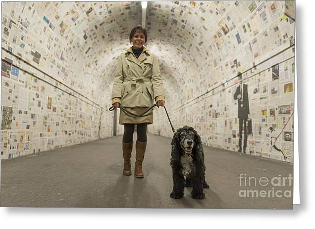 Circle Skirts Greeting Cards - Walking in a tunnel Greeting Card by Mats Silvan
