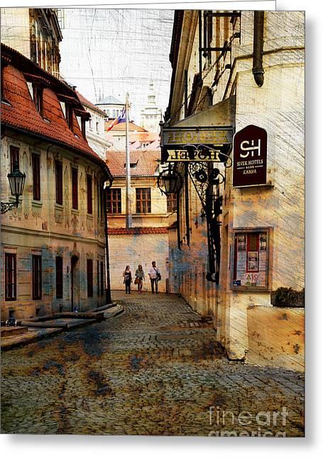 Lessor Greeting Cards - Walking in empty streets Greeting Card by Bridget Jones