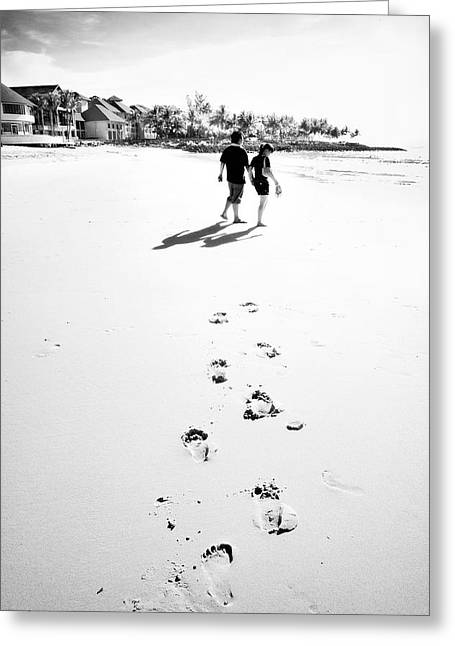 William Voon Greeting Cards - Walking In The Beach Greeting Card by William Voon