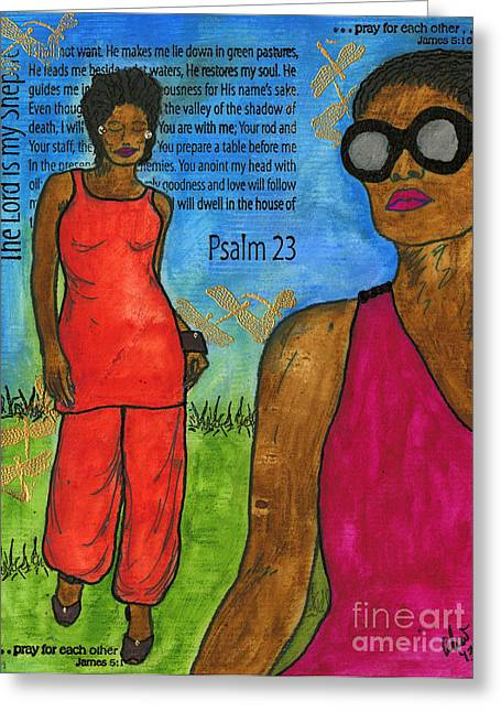 Trial Mixed Media Greeting Cards - Walking in The Spirit Greeting Card by Angela L Walker