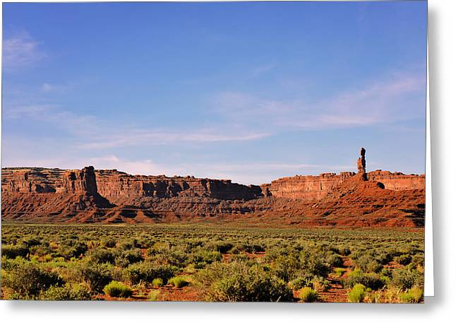 Surreal Landscape Greeting Cards - Walking in the Valley of the Gods Greeting Card by Christine Till