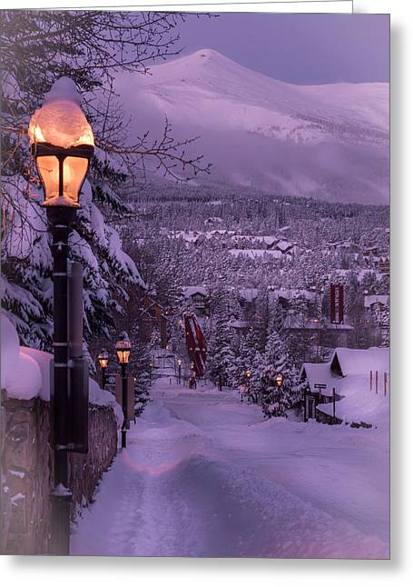 Walking In Winter Greeting Card by Michael J Bauer