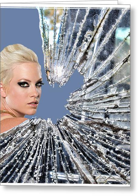 Annie Lennox Greeting Cards - Walking On Broken Glass Greeting Card by Sylvia Thornton