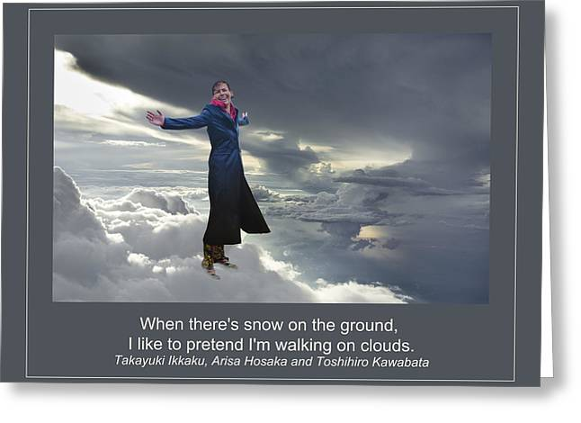 Storm Prints Digital Art Greeting Cards - Walking on Clouds Greeting Card by Rick Mosher