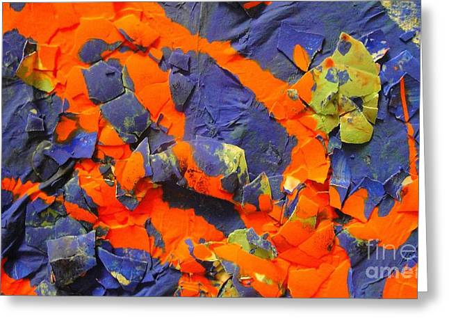 Abstract Digital Mixed Media Greeting Cards - Walking on Eggshells Greeting Card by Jackie Bodnar