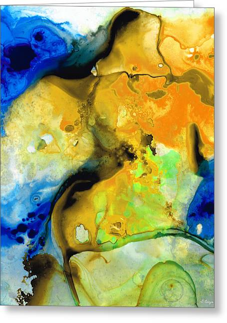 Walking On Sunshine - Abstract Painting By Sharon Cummings Greeting Card by Sharon Cummings