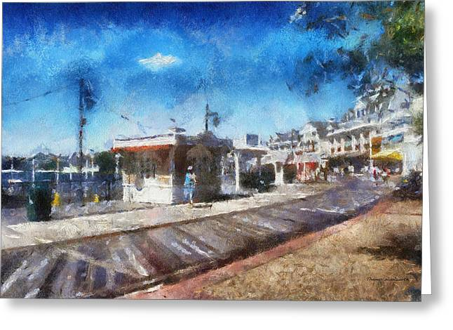 Cinderella Photographs Greeting Cards - Walking On The Boardwalk WDW 02 Photo Art Greeting Card by Thomas Woolworth