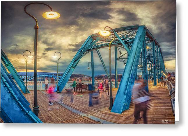 Tennessee River Digital Greeting Cards - Walking On Walnut Greeting Card by Steven Llorca