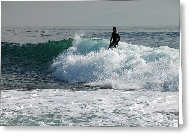 Santa Cruz Surfing Greeting Cards - Walking On Water Greeting Card by Donna Blackhall