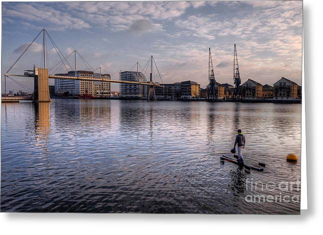 Hdr Landscape Greeting Cards - Walking on water Greeting Card by Rob Hawkins