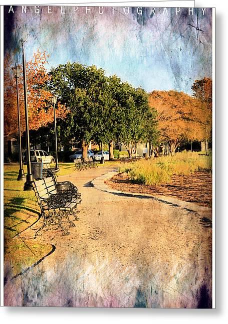 Walk Paths Digital Art Greeting Cards - Walking Path Greeting Card by Wendy Mogul