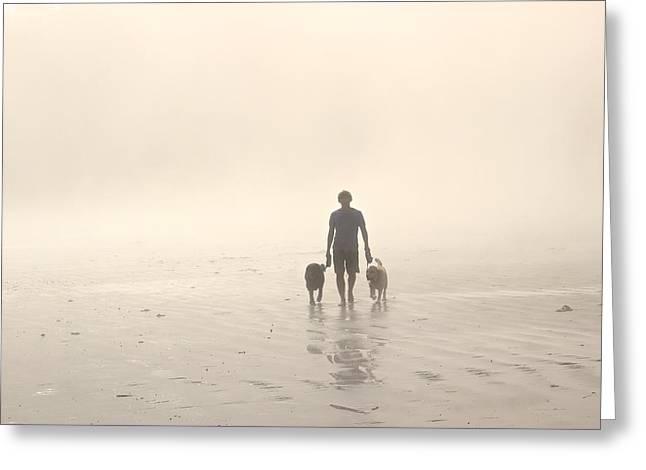 Dog Walking Greeting Cards - Walking the Dog Florentia Greeting Card by Brian Sereda