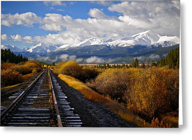 Recently Sold -  - Jeremy Greeting Cards - Walking the Rails Greeting Card by Jeremy Rhoades