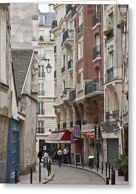 Window Of Life Greeting Cards - Walking the Streets of Paris Greeting Card by Nomad Art And  Design