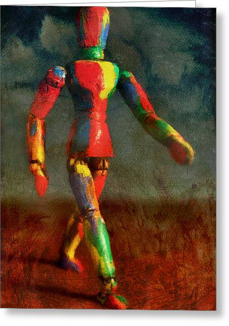 Jesters Puppet Greeting Cards - Walking The Walk Greeting Card by Jeff  Gettis