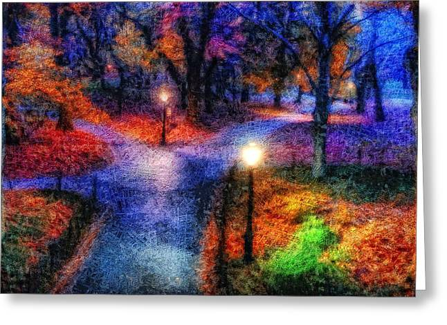 Photos Of Autumn Digital Greeting Cards - Walking Through Wonderland Greeting Card by Mario Carini
