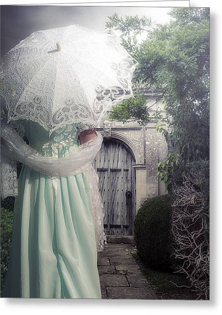 Garment Greeting Cards - Walking to the gate Greeting Card by Joana Kruse