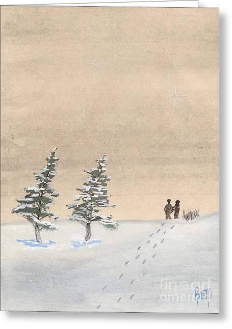 Robert Meszaros Greeting Cards - Walking Together Greeting Card by Robert Meszaros