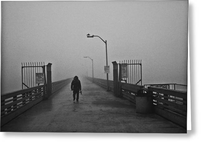 Abyss Greeting Cards - Walking Towards The Abyss Greeting Card by Larry Butterworth