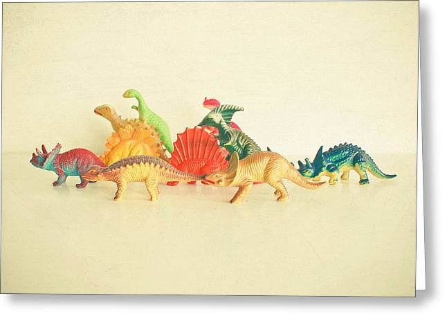 Walking With Dinosaurs Greeting Card by Cassia Beck