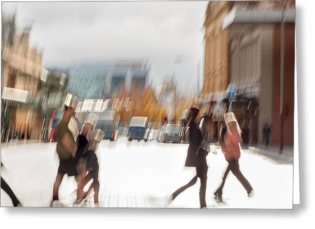 July Greeting Cards - Walking with Strangers Greeting Card by Constance Fein Harding