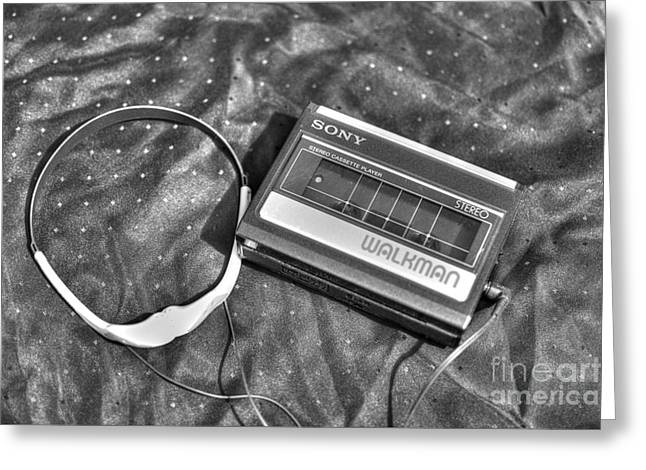 Walkman Greeting Cards - Walkman Stereo Cassette Player Greeting Card by Robert Loe